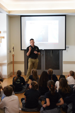 Travis Manion Foundation Volunteer Visits Holy Child Middle School to Teach About Character